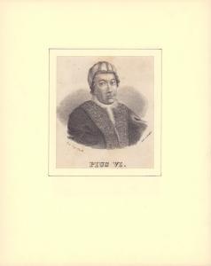 PORTRAIT Pius VI. Schulterstück im Halbprofil.