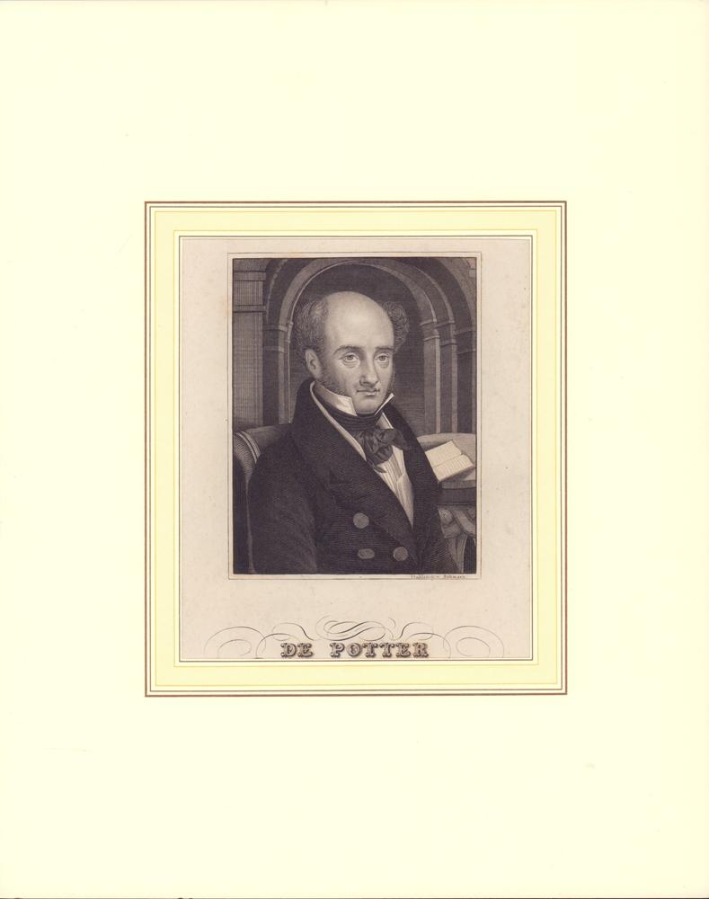 PORTRAIT de Potter. Brustbild im Dreiviertelprofil. Gestochen von F. Bahmann. 0