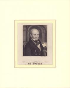 PORTRAIT de Potter. Brustbild im Dreiviertelprofil. Gestochen von F. Bahmann.