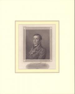 PORTRAIT Dr. J. F. Röhr, Generalsuperintendent in Weimar. Brustbild im Dreiviertelprofil. Nach dem Leben gezeichnet von Schwerdgeburth, gestochen von F. Fleischmann.