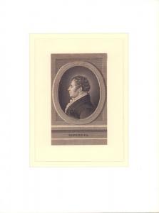 PORTRAIT Schlegel. Schulterstück en profil.