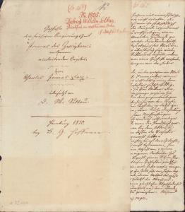 Handgeschriebenes Manuskript (Fragment) seiner Vorrede zu: Charles James Fox. Geschichte der frühen Regierungszeit James des Zweyten. Mit dunkelbrauner Tinte auf Büttenpapier.