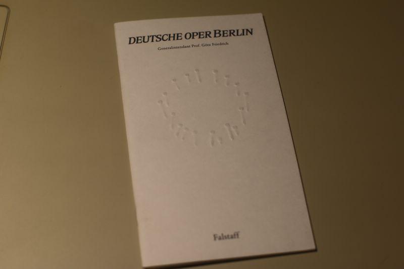 Deutsche Oper Berlin Programmheft Falstaff