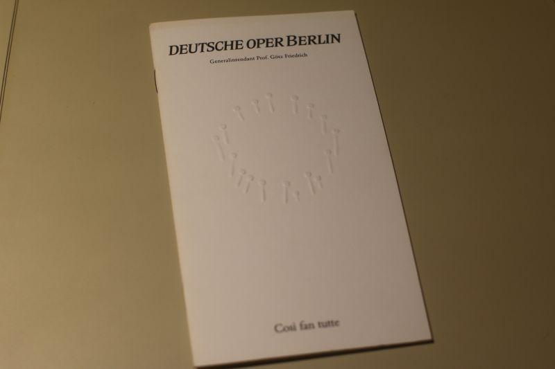 Deutsche Oper Berlin Programmheft Cosi fan tutte