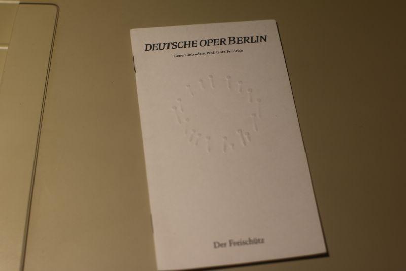 Deutsche Oper Berlin Programmheft Freischütz