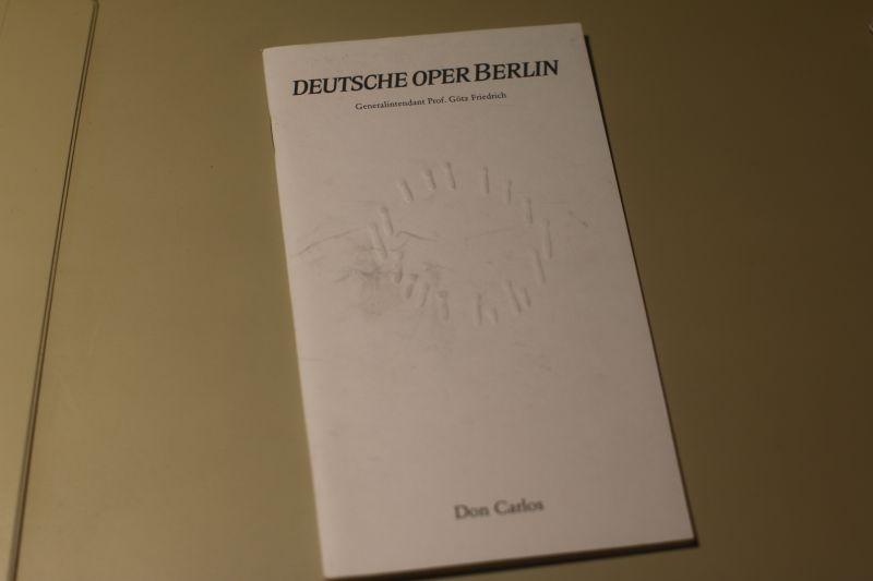 Deutsche Oper Berlin Programmheft Don Carlos