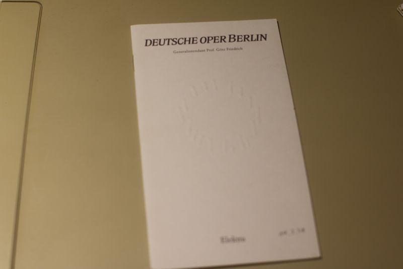 Deutsche Oper Berlin Programmheft Elektra mit Beilagen