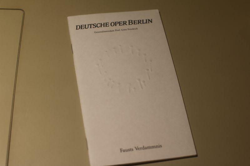 Deutsche Oper Berlin Programmheft Faust Verdammnis