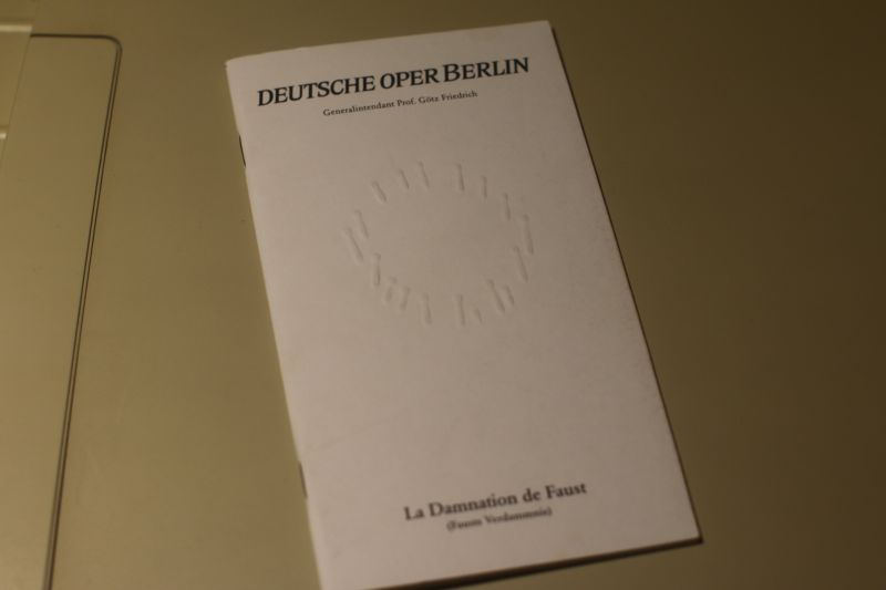 Deutsche Oper Berlin Programmheft La Damnation de Faust