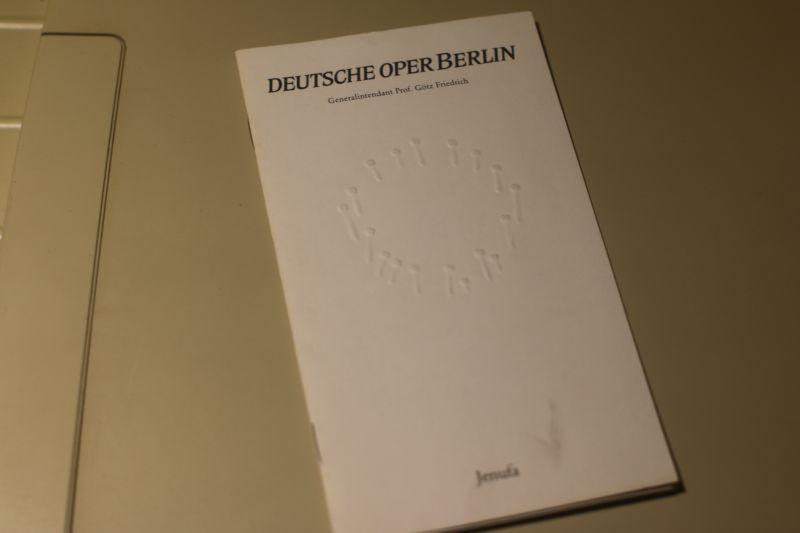 Deutsche Oper Berlin Programmheft Jenufa