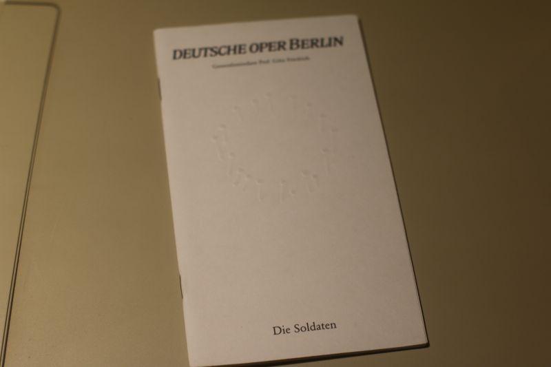 Deutsche Oper Berlin Programmheft Die Soldaten