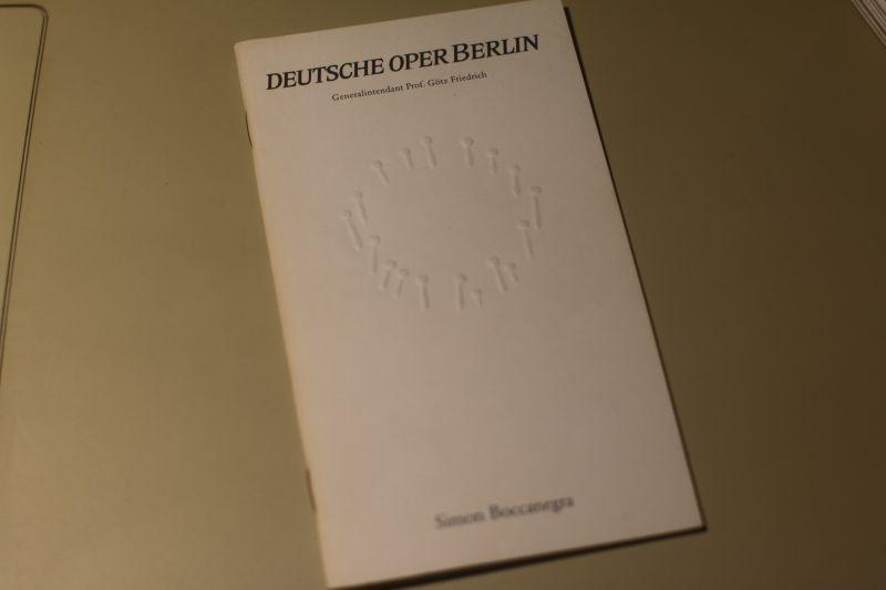 Deutsche Oper Berlin Programmheft Simon Boccanegra