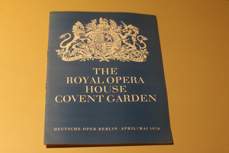 The Royal Opera House in Berlin Programmheft 1970