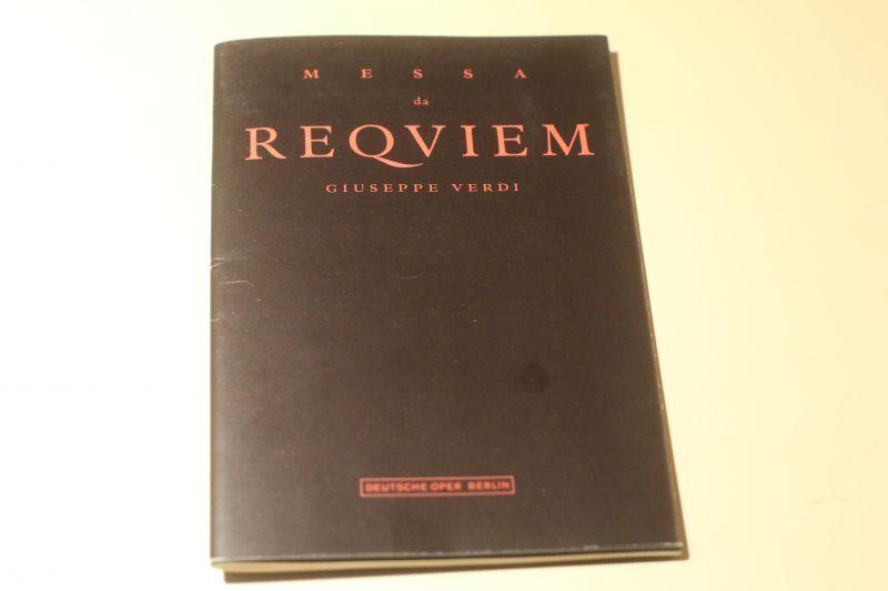 Messa da Reqviem Verdi Deutsche Oper Berlin Porgrammheft