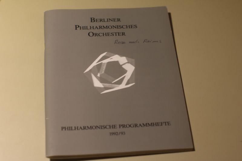 Berliner Philharmonisches Orchester Programm 1992-1993