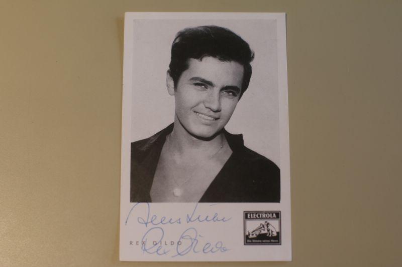 Signierte Autogrammkarte von Rex Gildo (Electrola)