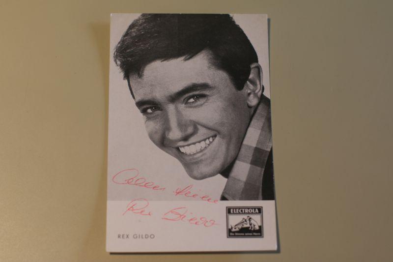 Rex Gildo alte Autogrammkarte signiert (Elektrola)