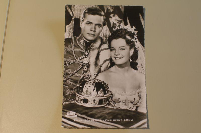Sissi Romy Schneider mit Karlheint Böhm Autogrammkarte (Herzog)
