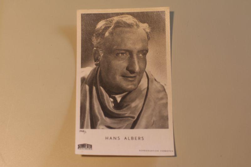 Autogrammkarte Hans Albers Starfoto Hasemann 348-1
