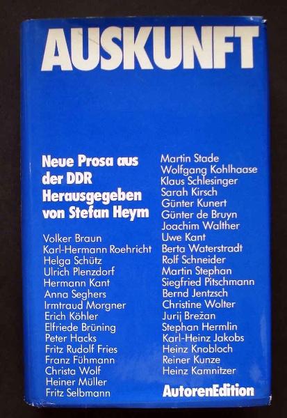 Auskunft. Neue Prosa aus der DDR.