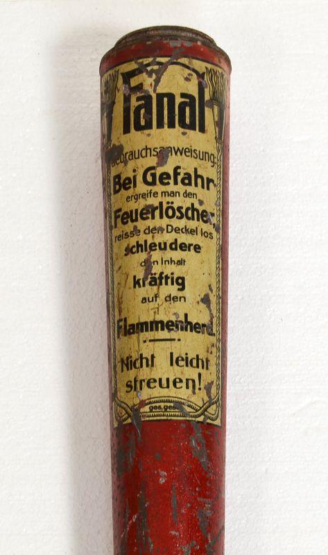 FANAL Trocken Feuerlöscher um 1900 Handfeuerlöscher antik
