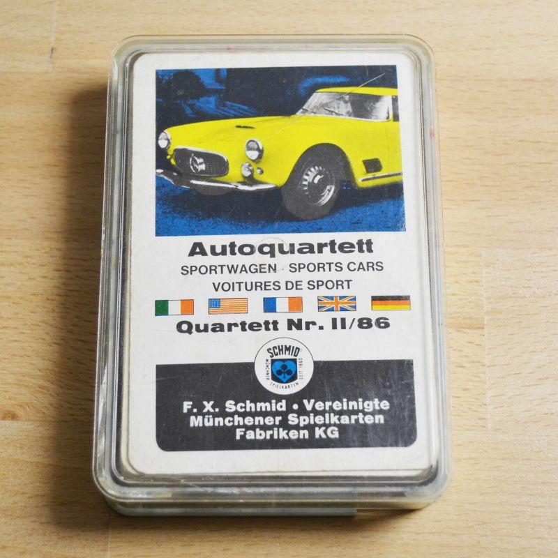 F. X. Schmid Autoquartett Sportwagen Quartett Nr. II/86 vollständig