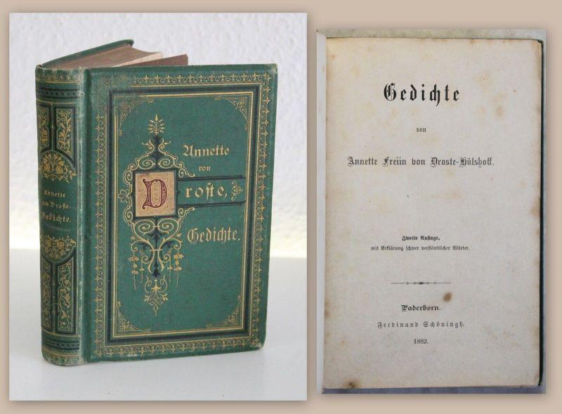 Anette Von Droste Hülshoff Gedichte 2 Auflage 1882 Lyrik Dichtkunst Xz
