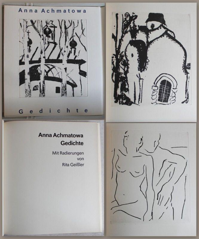 Anna Achmatowa -Gedichte. Mit Radierungen von Rita Geißler 1989 - Nr.1/30 - xz