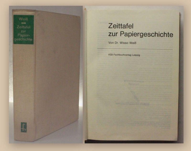 Weiß Zeittafel zur Papiergeschichte 1983 Geschichte Chronologie Papier xy