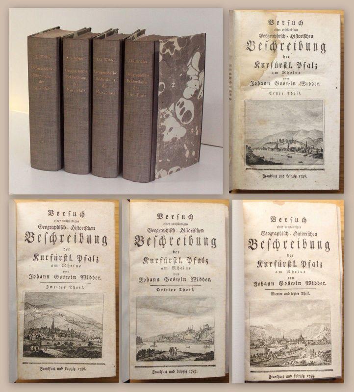 Widder Geographisch-Historischen Beschreibung der Kurfürstl. Pfalz 1786-1788 xz