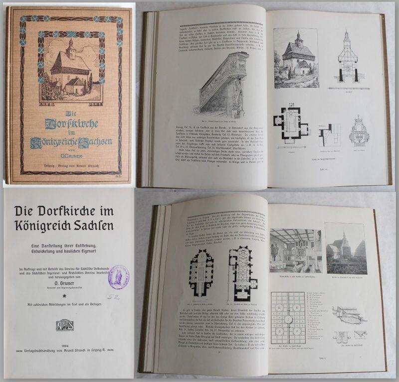 Gruner - Die Dorfkirche im Königreich Sachsen 1904 - Geschichte, Architektur xz