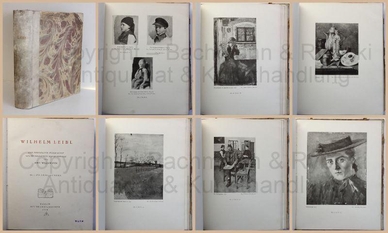 Wilhelm Leibl Darstellung seiner Kunst Gesamtverzeichnis seiner Gemälde 1914 xz