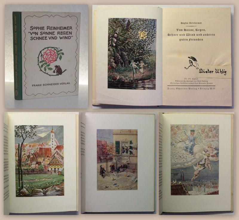 Reinheimer Von Sonne, Regen, Schnee und Wind 1926 Kinderbuch Geschichten xz