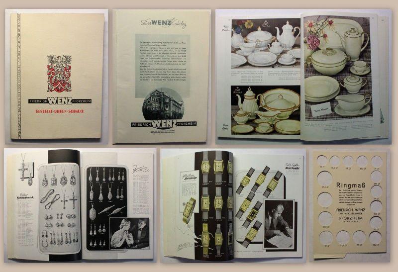 Wenz Katalog Das Buch der 1000 Geschenke Bestecke Uhren Schmuck um 1930 Art Deko
