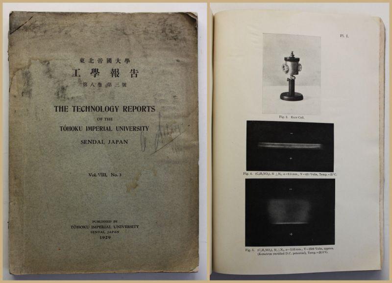 Tohoku The technology reports University Sendai, Japan Vol. VIII, No. 3 1929 sf