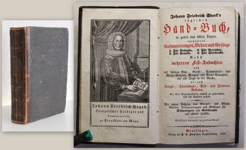Stark: Handbuch Aufmunterungen, Gebete und Gesänge 1852 Religion Christentum xz