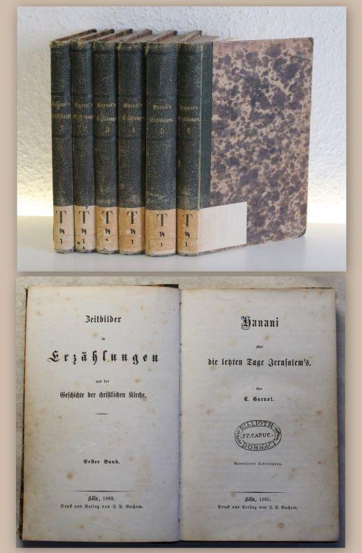 Guenot Hanani Die letzten Tage Jerusalems 6 Bde 1865 Geschichte Christentum xz