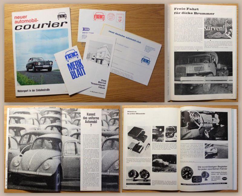 Zeitschrift Mitteilungsblatt Neuer Automobil-Courier NAC Automobil-Club 1965 xz