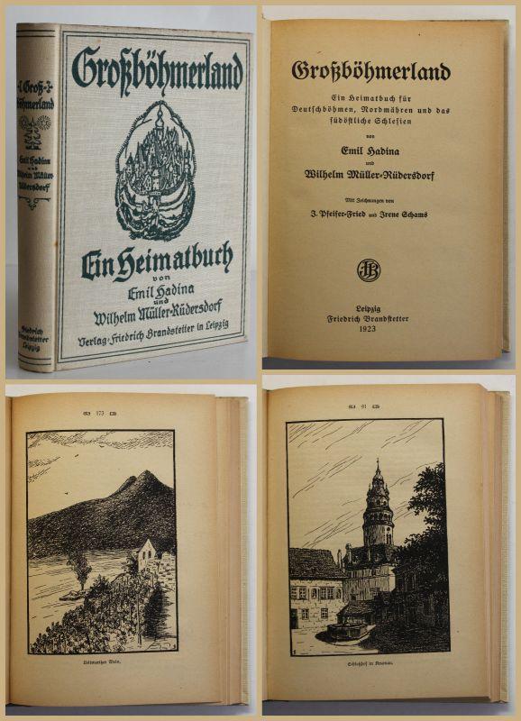 Hadina/ Müller Rüdersdorf Großböhmerland 1923 Geschichte Ortskunde Reise sf