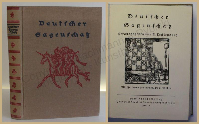 Tecklenburg Deutscher Sagenschatz 1930 Belletristik Sagen Literatur xy