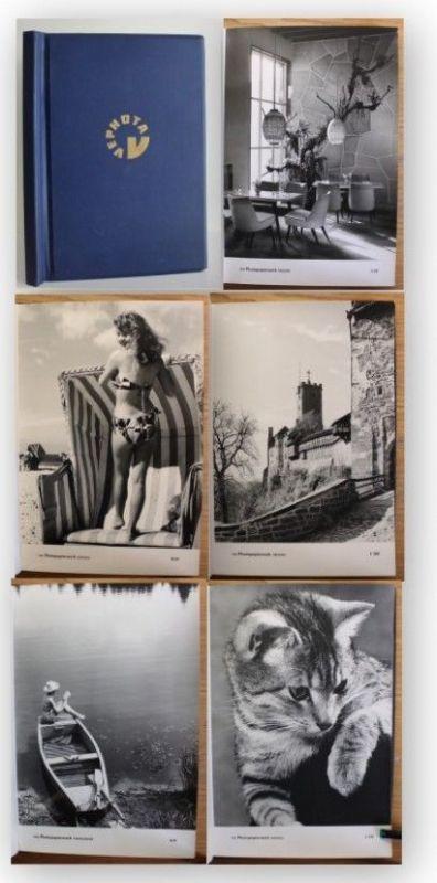 Musterbuch Musterkatalog mit 33 verschiedenen Fotopapieren Papierwerk Dresden xy