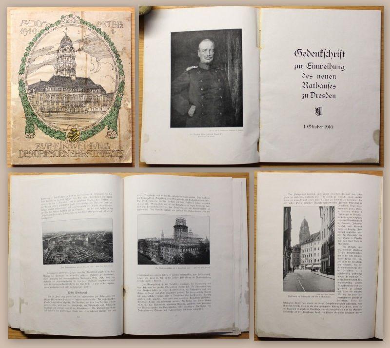 Gedenkschrift zur Einweihung des Dresdner Rathauses 1910 Festschrift Geschichte