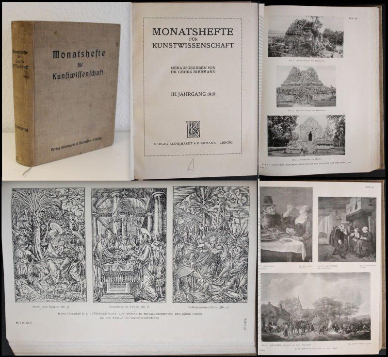 Biermann - Monatshefte für Kunstwissenschaft III. Jahrgang 1910 Abhandlungen xz