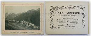 Prospekt Hotel Meisser um 1910 Schweiz Landeskunde Ortskunde Geographie xy