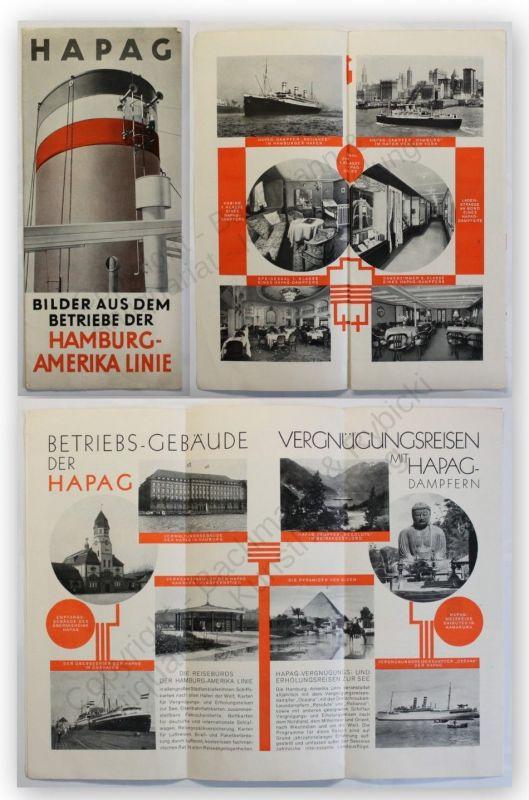 Prospekt Hapag Bilder Aus Dem Betriebe Der Hamburg Amerika Line Um