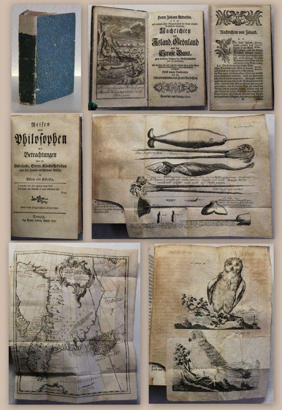 Anderson Weiland Nachrichten von Island, Grönland und der Strasse Davis 1747 xz
