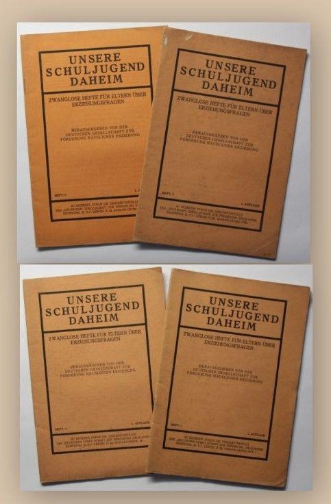 Konvolut Unsere Schuljugend Daheim 4 Hefte um 1930 Erziehung Pädagogik xy