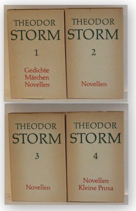 Konvolut Theodor Storm 4 Bde 1967 Belletristik Romane Klassiker Literatur xy