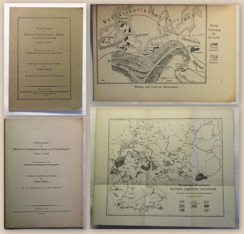 Schriel Geologische Karte von Deutschland 1930 Bodenschätze Erläuterungen xy