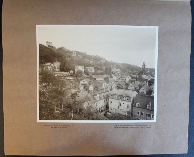 Orig. Fotografie Berg-Schwebebahn Loschwitz Dresden Sachsen 1908 Stadtansicht xz